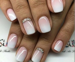 nail, white, and ombre image