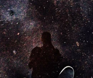 black, boy, and galaxy image