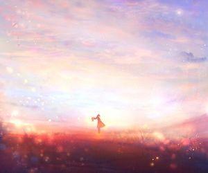 anime, sky, and sweet image