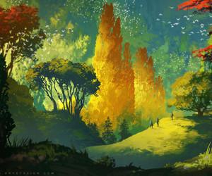 art, landscape, and wanderlust image