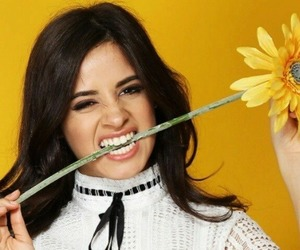 camila cabello, yellow, and flowers image