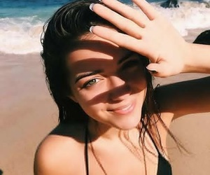 beach, smile, and summer image