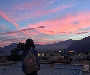 sky, tumblr, and girl image