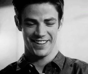 black and white, smile, and grant gustin image