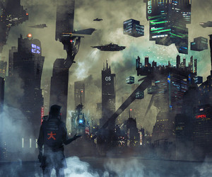 art, cyberpunk, and cyborg image