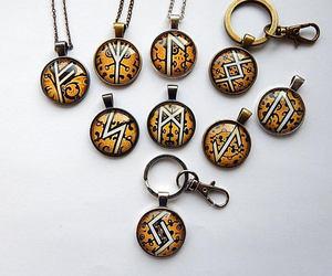 etsy, futhark runes, and rune algiz image