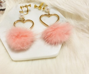 earring, fashion, and pink image