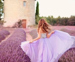 lavender, purple, and dress image