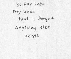 quotes, head, and sad image