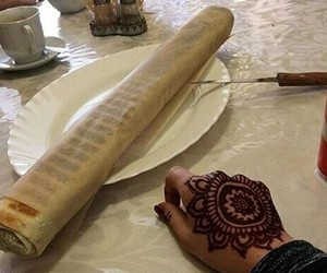 food, girl, and henna image