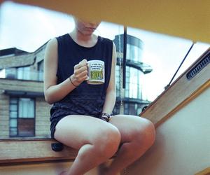 girl, indie, and mug image