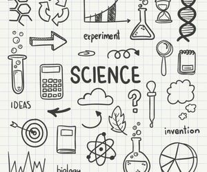 doodle, school, and science image