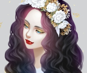 background, beautiful, and drawing image