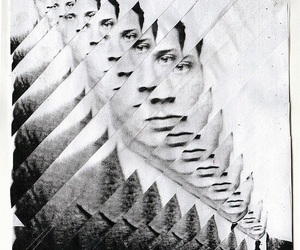 black and white and Collage image