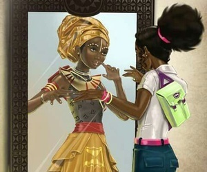 African and black image