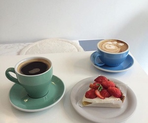 aesthetic, coffee, and cake image