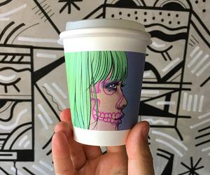 bali, coffee shop, and illustration image