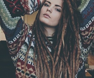 dreadlocks, dreads, and red dreads image