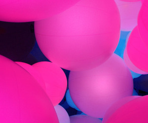 glow, pink, and spheres image