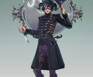 Devil, knives, and masquerade image
