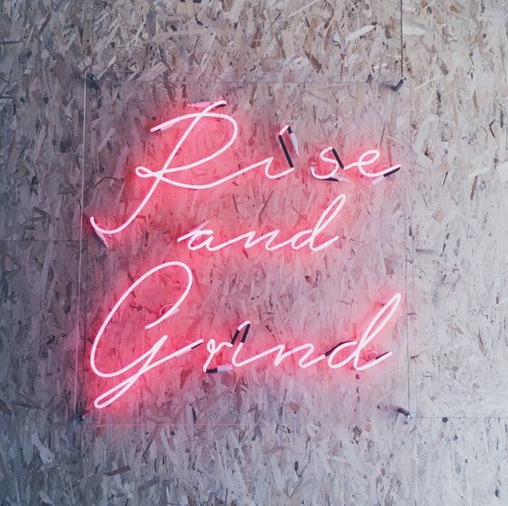 grind, rise, and neon image