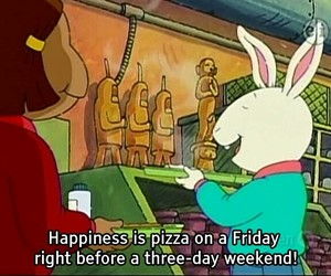 pizza, friday, and happiness image