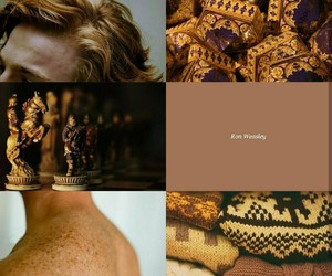 aesthetic, brown, and wizard image