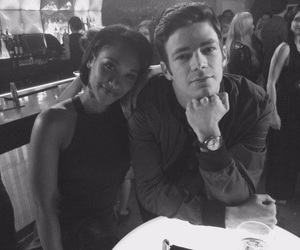grant gustin, barry allen, and iris west image