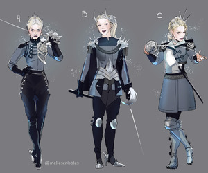 character design, thumbnail, and red queen image