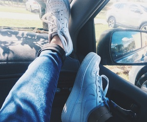 aesthetic, air force 1, and blue image