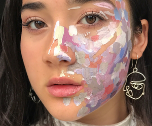 girl, aesthetic, and paint image