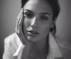 gal gadot and black and white image