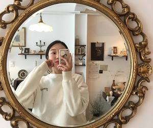 aesthetic, mirror, and selca image