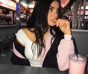 girl, makeup, and pink image