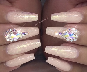 beauty, diamond, and nails image