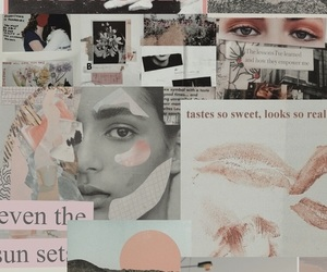 aesthetic, Collage, and pink collage image