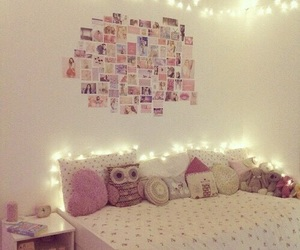 bedroom, girly, and home image
