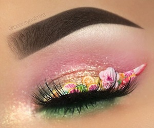 beautiful, makeup, and tropical eye liner image
