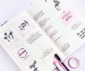 journal, study, and bujo image