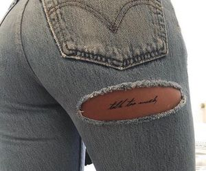 tattoo, jeans, and denim image