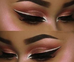 beautiful, eye liner, and makeup image
