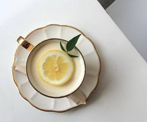 food, lemon, and tea image