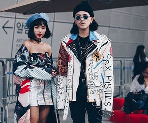 fashion, couple, and street style image