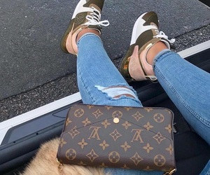 Louis Vuitton, fashion, and jeans image