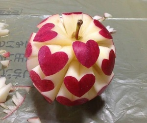 apple, heart, and art image