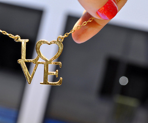 love, necklace, and nails image