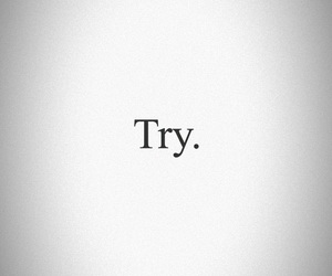 try, word, and bg image
