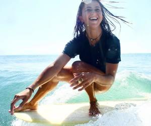 girl, surf, and fun image