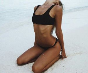 beach, bikini, and goals image