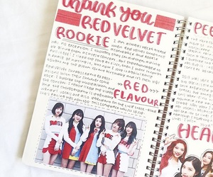 art, journal, and red velvet image